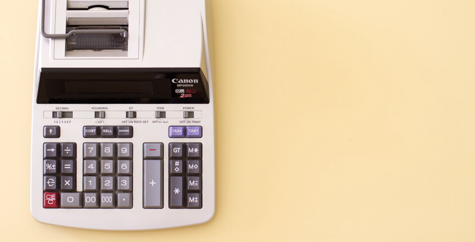 An old school tax and business calculator