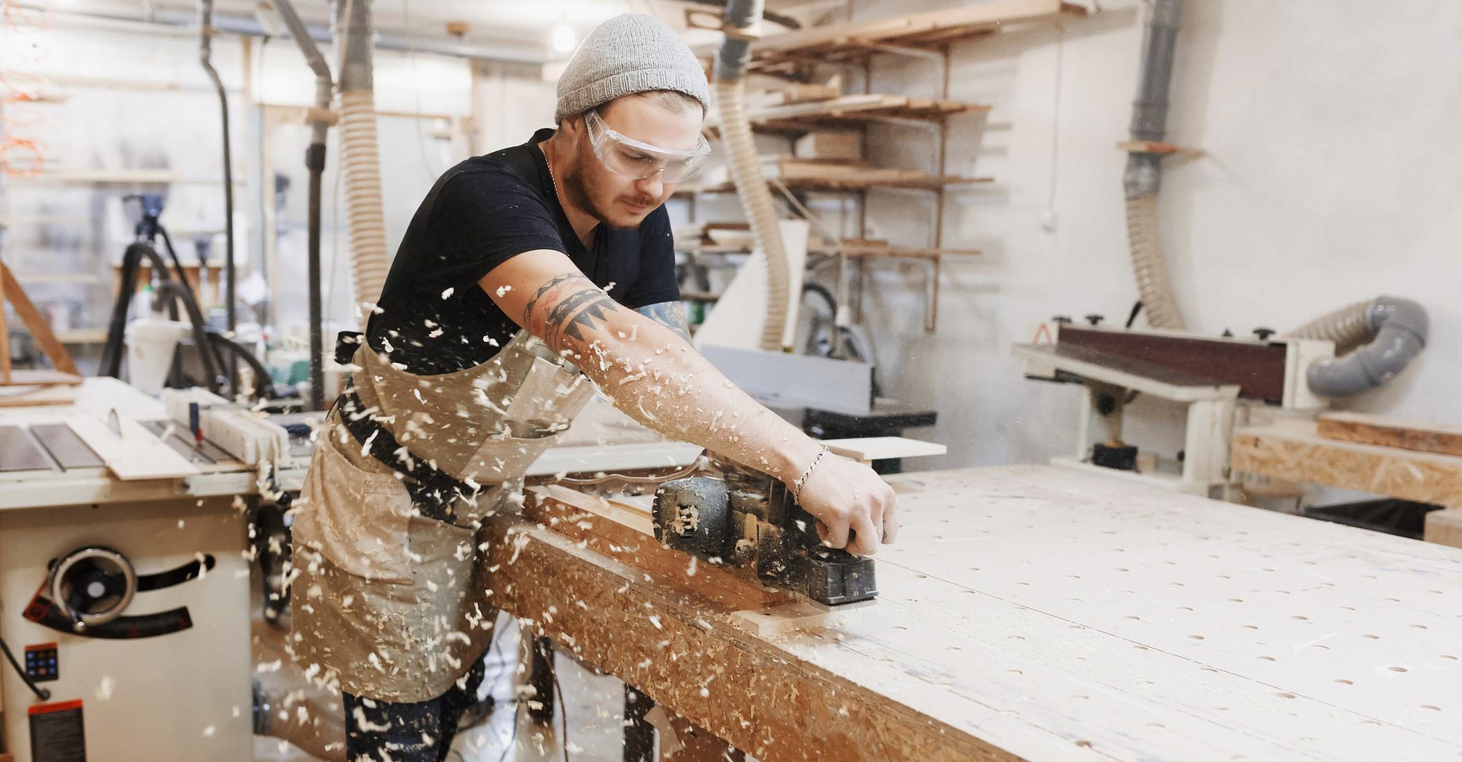 carpenter with tools